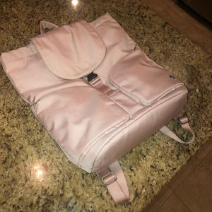 Light pink Lululemon backpack
